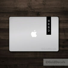 Nerd Banner - Vinyl Decal Mac Apple Logo Laptop Sticker Macbook Decal Geek