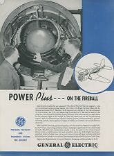 1946 General Electric Ad Ryan Fireball Navy Fighter Gas Turbine Engine