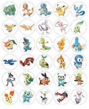 POKEMON carta wafer commestibile decorazioni per torta x 30