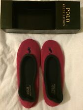 Ralph Lauren Women's Bayley Slippers Hot Pink/Navy Size UK 5