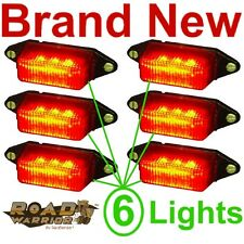 NEW 6 RED SUBMERSIBLE LED CLEARANCE LIGHTS/BULB,BOAT/CARGO TRAILER RUNNING LIGHT