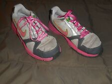 Girls Nike Endurance Trainor Gray/Pink Shoes Size 3Y  Used