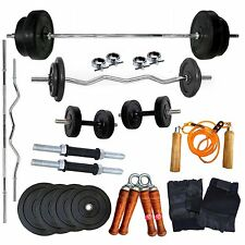 Bodyfit Gym Fit Home Gym Combo 20 Kg Weight + 5 Ft Plain Rod + 3 Ft Curl Rod