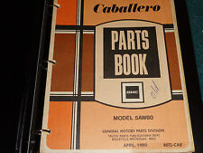 1978-1980 GMC CABALLERO  PARTS CATALOG / ORIGINAL  PARTS BOOK 1979 1980+