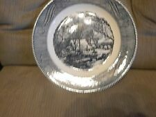 Vintage Royal China Jeanette Currier & Ives Collector Plate