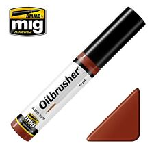 Ammo of Mig Oilbrusher Rust - Oil Paint with Fine Brush Applicator #3510