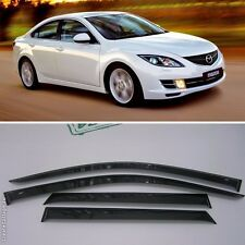 For Mazda 6 II Sd 2007-2012 Window Side Visors Sun Rain Guard Vent Deflectors