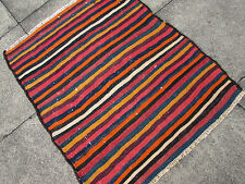 "Tribal Nomadic HANDMADE Oriental Wool Colourful Kilim 110x95cm 3'8""x3'2"""