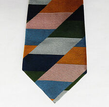 English silk tie by Simpsons of Piccadilly Multi coloured block stripes