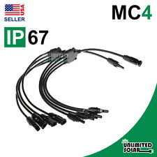 "Solar Panel 12"" MC4 Flexible Parallel Connection Set IP67 - M/FFFF & F/MMMM"