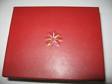 NEW CRATE & BARREL SWING DESIGN small red leatherette jewelry box with mirror