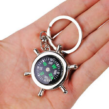 Mini Compass Keychain Car Key Ring Key Chain for Hiking Camp Out Camping Travel