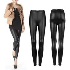 Sexy Women Faux PU Leather Skinny Pencil Pants Tights Trousers GO