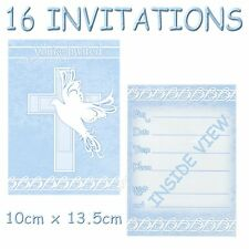 16 Boys Communion Invitations Christening Confirmation Invites & Envelopes