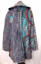 NEW UNISEX FAIR TRADE GRINGO ETHNIC HIPPY FESTIVAL FLEECE LINED JACKET COAT XL