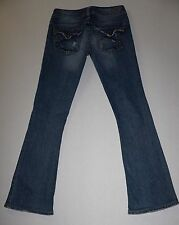 "Silver Jeans PIONEER Distressed Denim Flap Pocket  Size 25 (29.5"" Inseam)"