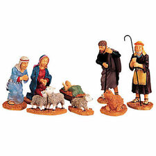 NEW Lemax Village Collection NATIVITY SCENE Set of 8 Figurines Poly-Resin