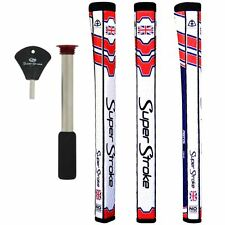 SALE!!! Super Stroke Pistol GT Tour Golf Putter Grips with CounterCore-UK Flag