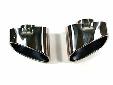 Dual Chrome Exhaust Pipe Muffler Tip Stainless Steel Fits BMW X5 E70 NEW BOXED