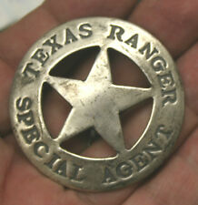 Reproduced Unusual  ROUND    TEXAS RANGER    SPECIAL AGENT Badge FREE SH USA
