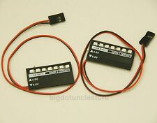 196: 2x Watch Battery Monitor 4.8--6V Volt  for RC Plane ,Helicopter.