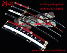 Full Tang Handmade One Piece Sword Sharp Anime Sword  Manga Sword Roronoa Zoro