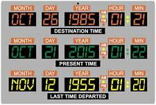 "Back to the Future Car DeLorean Time Machine Dashboard 12"" x 18"" metal sign"