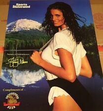 Vintage Sports Illustrated Swimsuit Moose head Beer 1996 Poster