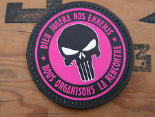 Patch Velcro PVC - ROSE - PUNISHER dieu jugera nos ennemis  girl femme airsoft