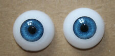 Reborn Baby Dolls Eyes 22 mm Blue Half Round Acrylic Eyes