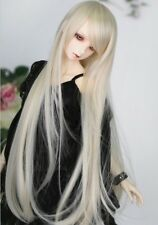 "BJD Doll Hair Wig 7-8"" 1/4 SD DZ DOD LUTS Blonde Long Straight"