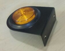 "2 1/2"" Round Amber Marker Light 13 LED - Grommet Plug & Bracket ~ Truck ~Trailer"