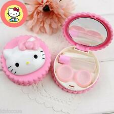 Hello Kitty Cookies Pink Head Contact Lens Case Travel Set K481