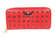 Freshgadgetz jeune crâne fashion sac à main portefeuille pour femmes-rouge