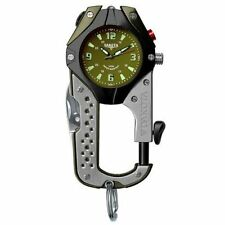 Dakota Watch Co. Knife Clip, Army Green Dial, Black/Gray Body, Carabiner 8763-0