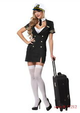 Pilot, Flight Captain, Womens Fancy Dress Costume - size Small (AU 8 - 10)