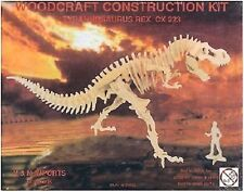 Tyrannosaurus Rex: Woodcraft Construction Wooden 3D Model Kit T-Rex Model CX223