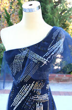 NWT BCBG MAX AZRIA $498 NAVY Womens Prom Formal Gown 4