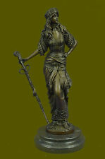 PERSIAN FEMALE WARRIOR SIGNED BY CHIPARUS BRONZE STATUE HOT CAST MASTERPIECE ART