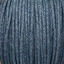 Denim Ronda Trenzado Tejido Cable 3: núcleo de 0,5 mm para la iluminación (Cable Textil trenzado)