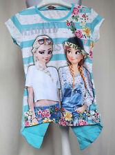 Elsa Shirt - Eiskönigin Frozen T-shirt - Longshirt Gr. 122/128 /00344/