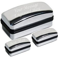 Chrome Personalised Cufflink Box Fathers Day Gift Dad