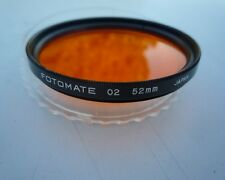 FOTOMATE 02 52mm ORANGE FILTER MADE IN JAPAN METAL MOUNT IN PLASTIC CASE