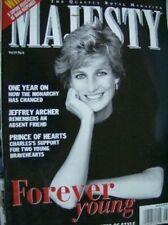 Majesty Magazine Diana Forever Young, 1 Year Later, V19 #8 August 1998