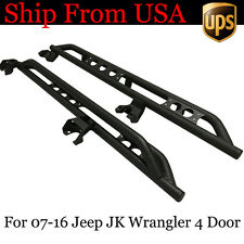 Nerf Bars Fit 07-16 Jeep JK Wrangler Armor Rocker Guard 4 Door Side Step Black