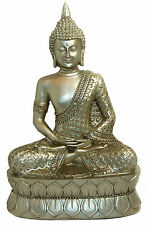 Buddhist  Statue Sparkling Gold Mediating Thai Buddah Ornament Figure New Gold