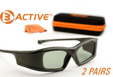 3ACTIVE® 3D Glasses for Samsung® Bluetooth 3D TVs. Rechargeable. TWO PAIRS
