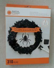 MARTHA STEWART Happy HALLOWEEN TISSUE WREATH KIT with SPIDER Glittered Sealed