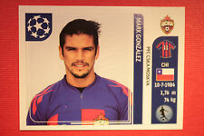 PANINI CHAMPIONS LEAGUE 2011/12 N 102 GONZALEZ CSKA WITH BLACK BACK MINT!!
