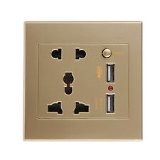 2.1A 2 USB Ports Wall Socket Charger Receptacle Panel Power Outlet Switch